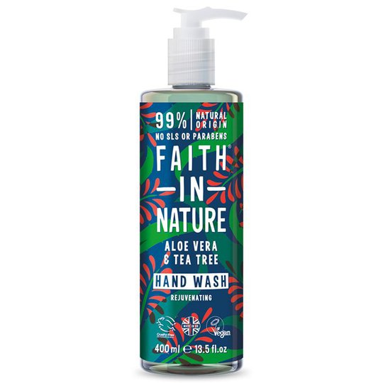 Faith in Nature Aloe Vera & Tea Tree Hand Wash, 400 ml