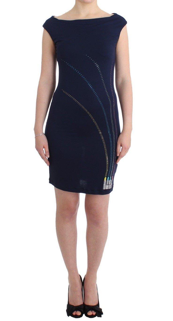 Roccobarocco Women's embellished sheath Dress Blue SIG11563 - IT44|L