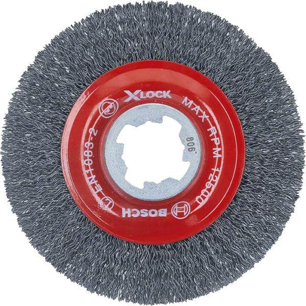 Bosch Clean for Metal Ståltrådbørste X-LOCK, 0,3 x 115 mm