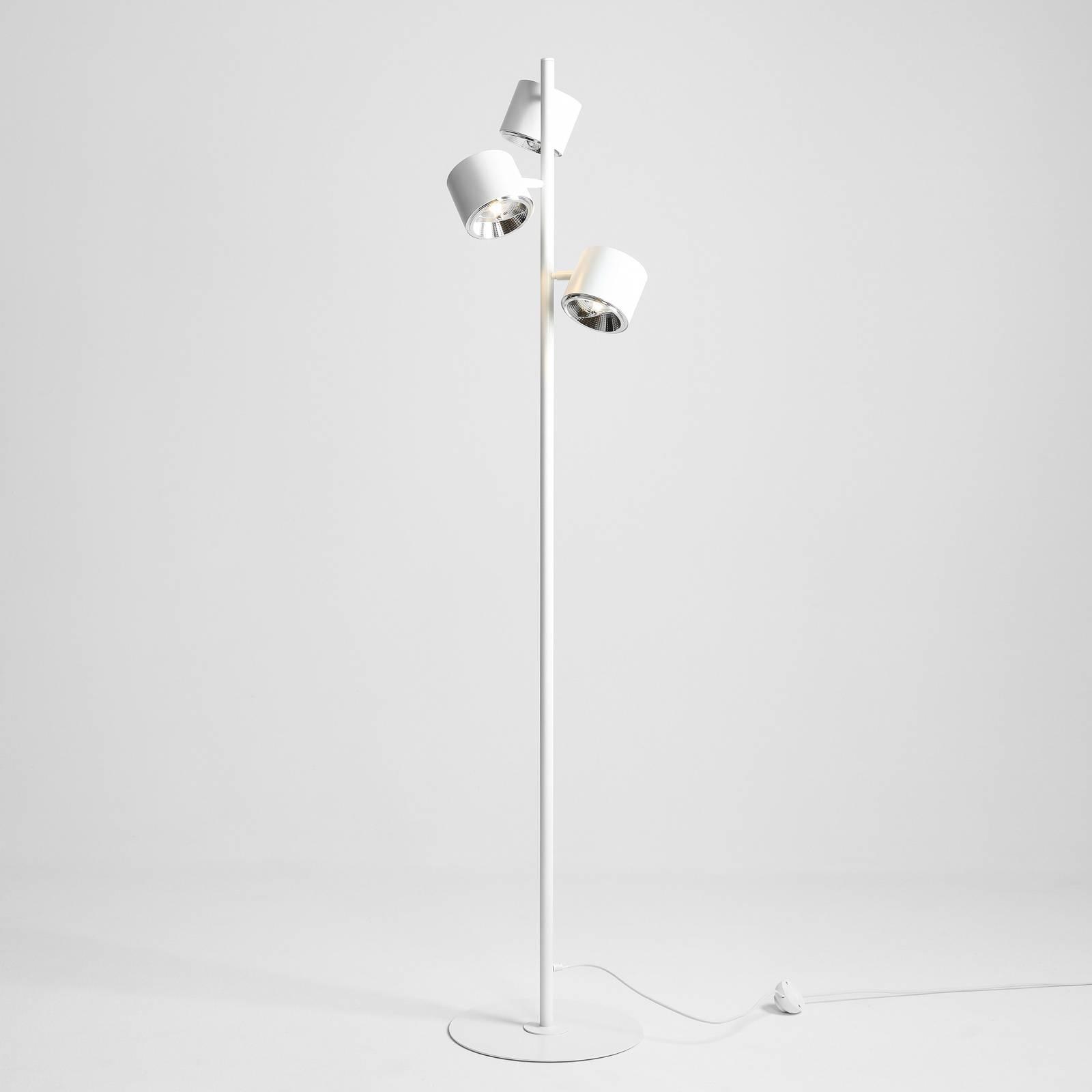 Lattiavalaisin Bot, valkoinen, 3-lamppuinen
