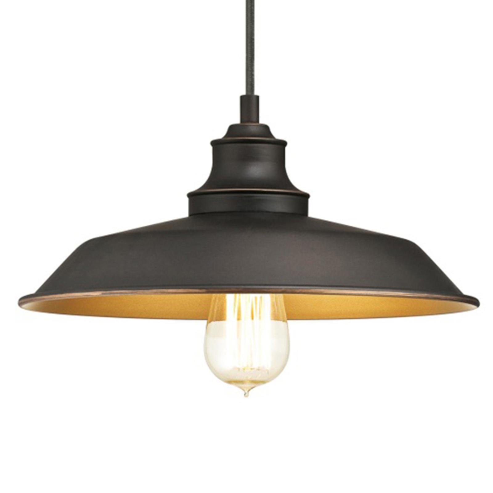 Westinghouse Iron Hill -riippuvalo, 1-lamp. musta