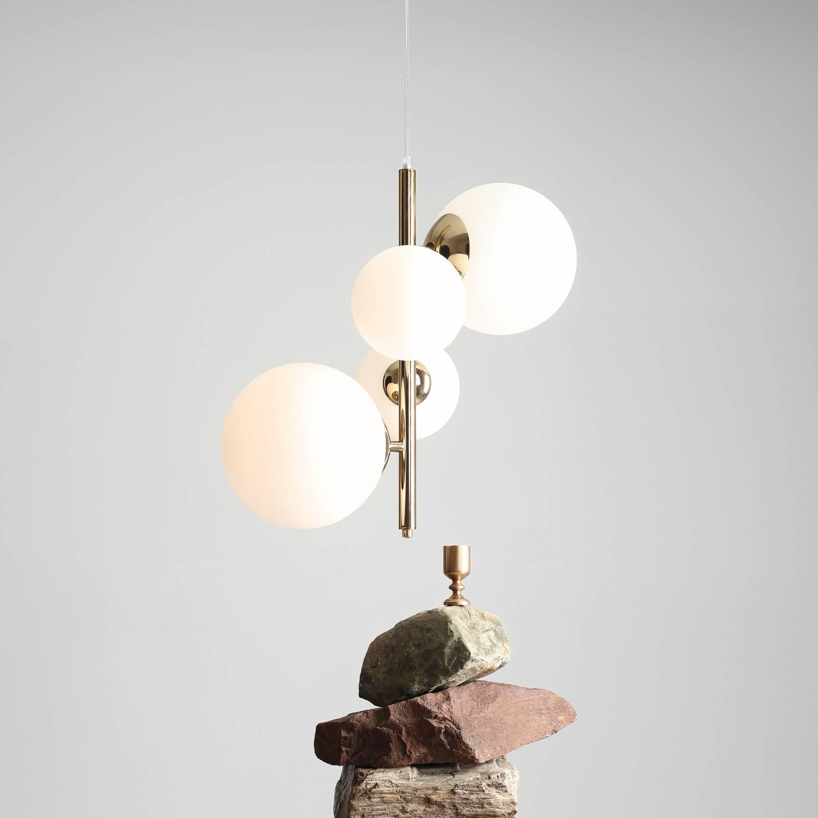 Riippuvalaisin Bloom, 4-lamppuinen, kulta
