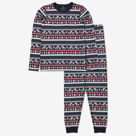 Todelt pyjamas voksen mørkblå
