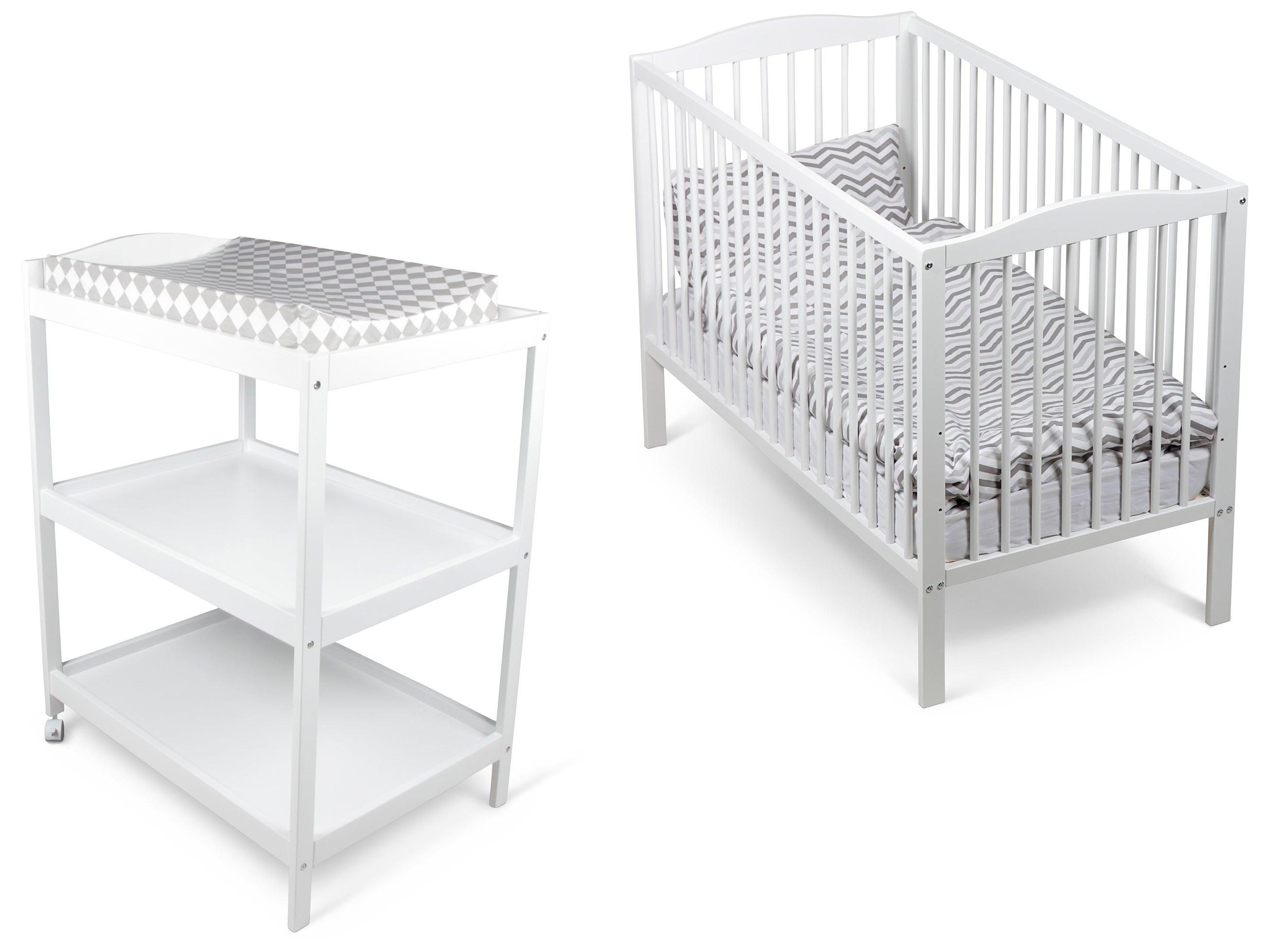 JLY Dream Basic Pinnasänky ja Hoitopöytä, Valkoinen