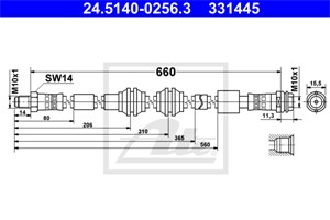 Jarruletku, Etuakseli, MERCEDES-BENZ GLE [W166], GLE Coupe [C292], GL-KLASS [X166], GLS [X166], M-KLASS [W166], 166 420 03 48, A 166 420