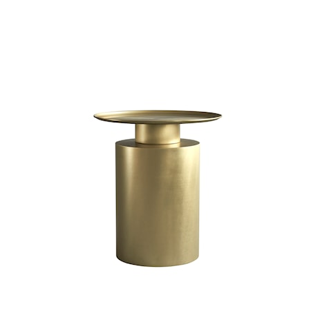 Pillar Sidobord Tall Brass Antique