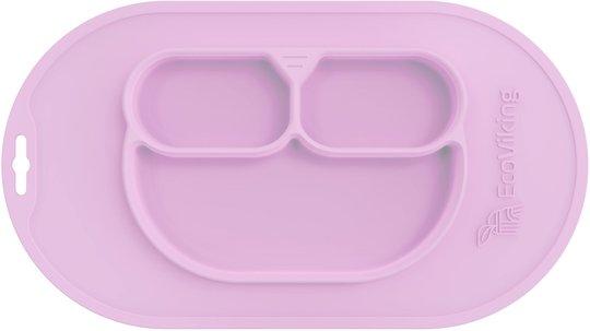 EcoViking Silikontallerken, Pink Lavender