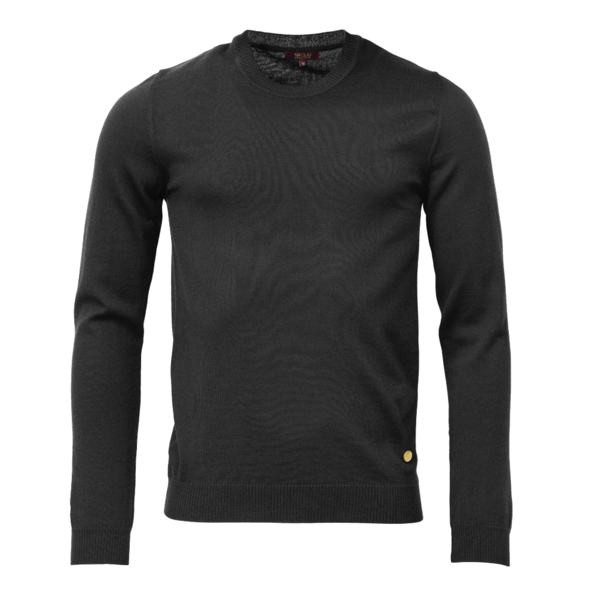 Konstantin Crew Neck Merino Wool Sweater