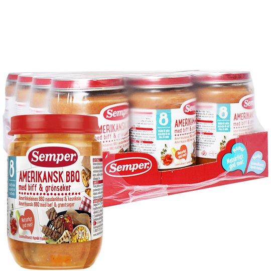 """Laatikollinen Lastenruokaa """"Amerikkalainen BBQ"""" 12 x 190g - 92% alennus"""