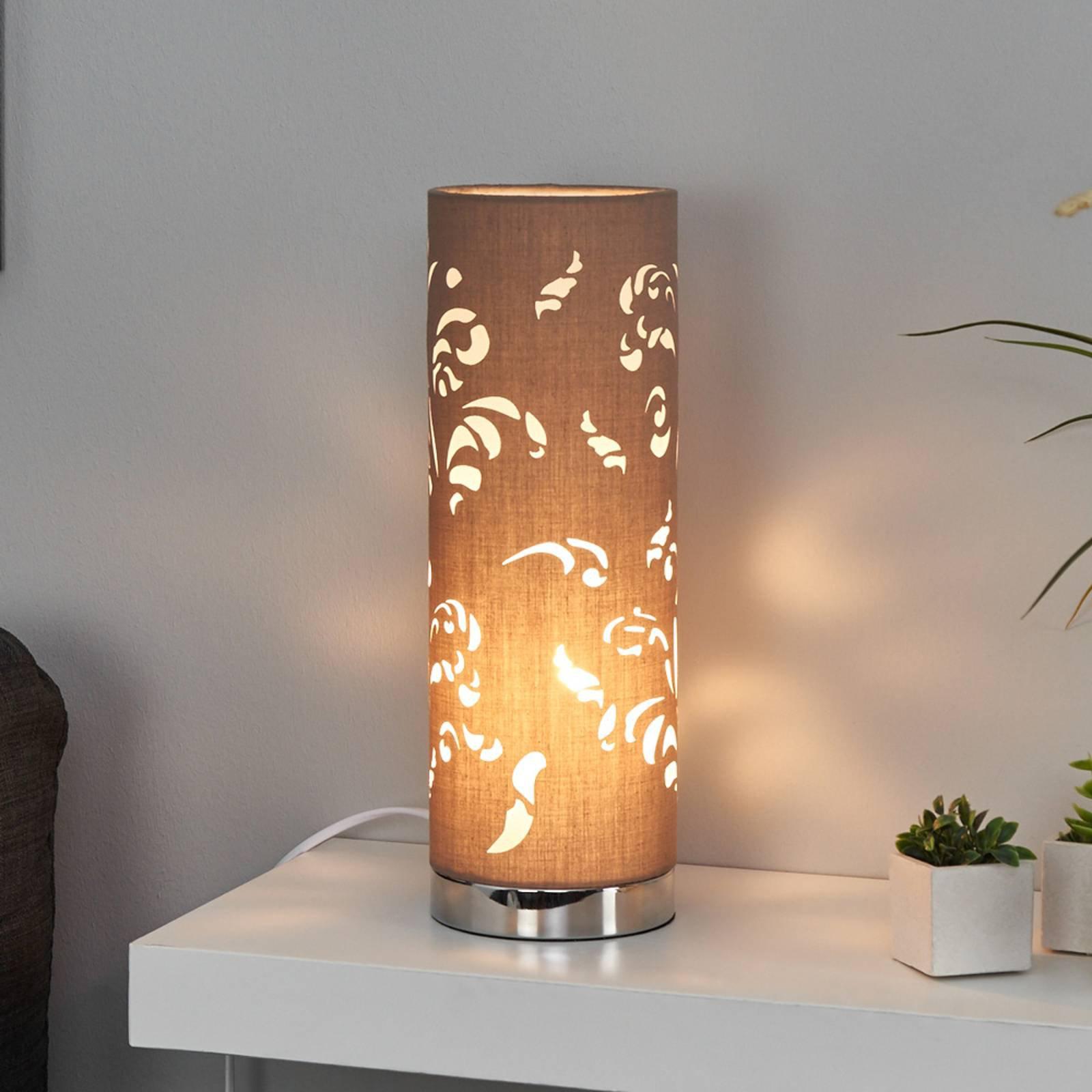 Bordlampe Flora cappucino dekor
