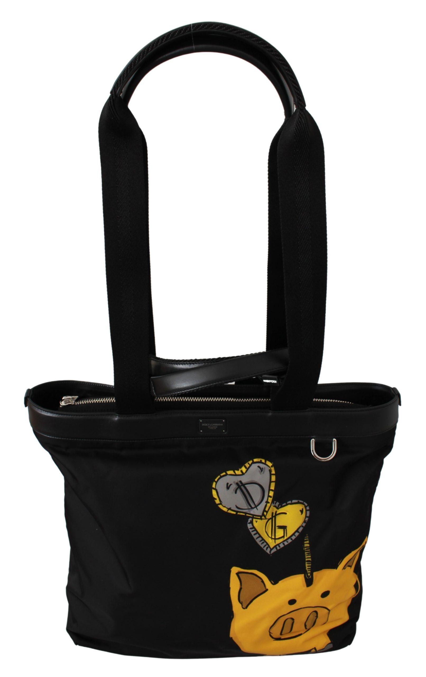 Dolce & Gabbana Women's Year Of The Pig Shopping Tote Bag Black VAS9457