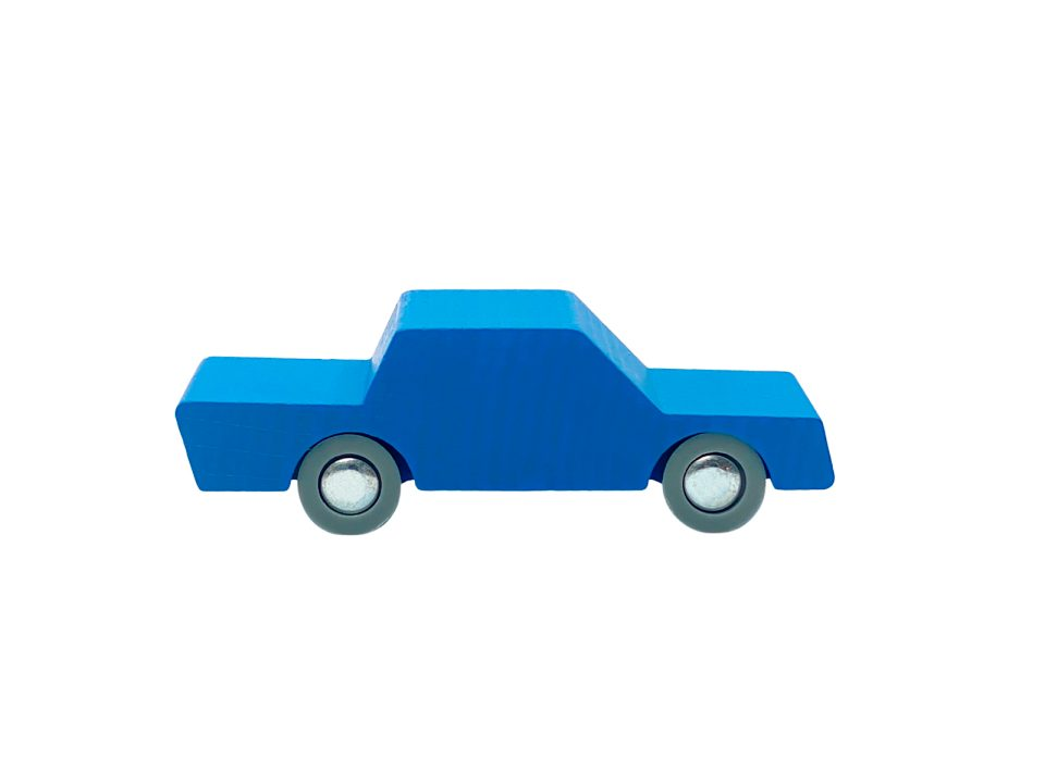 Waytoplay - Back and Forth Wooden Car - Blue