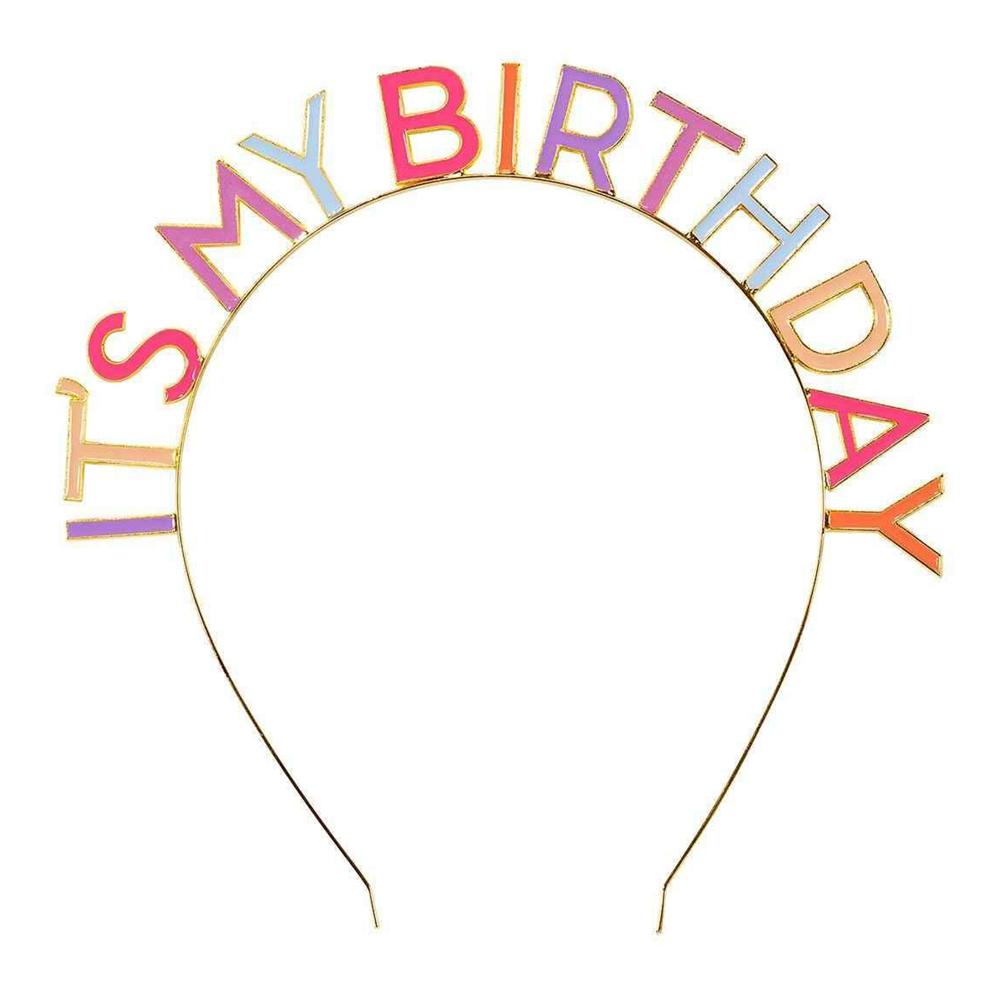 Diadem It's my Birthday Flerfärgad