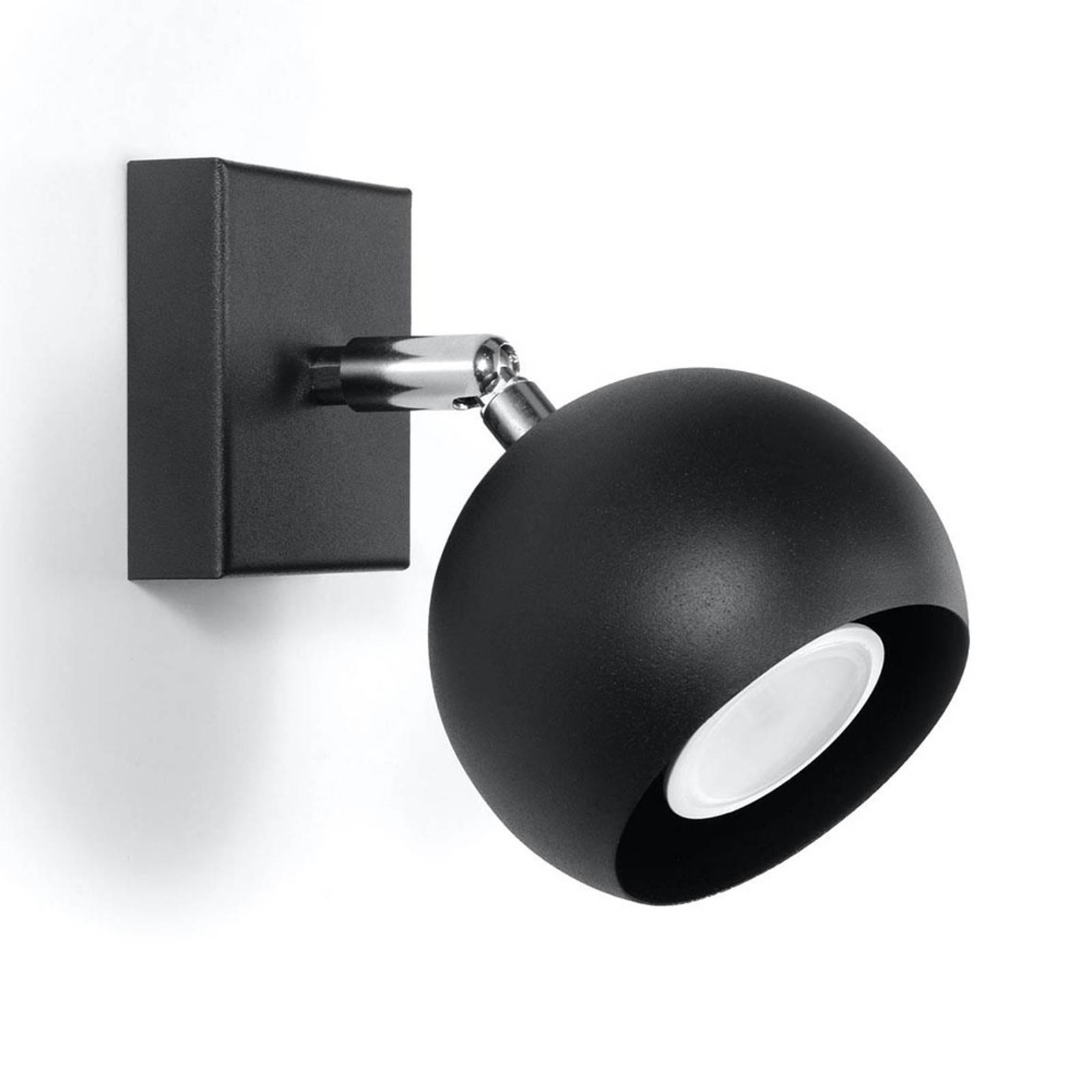 Seinäkohdevalaisin Flame terästä, musta