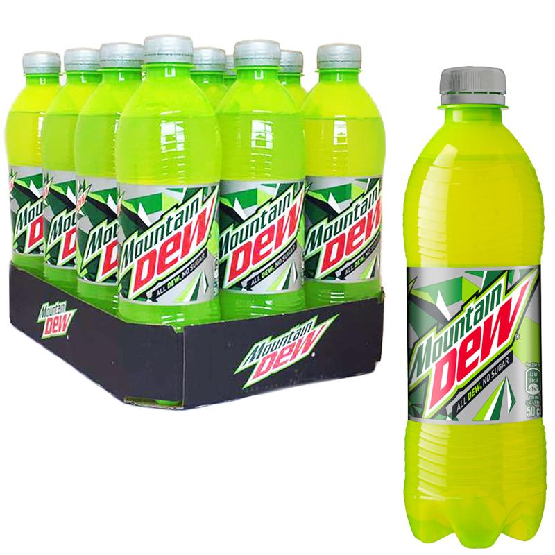 """Hel Platta Läsk """"Mountain Dew No Sugar"""" 12 x 50cl - 61% rabatt"""