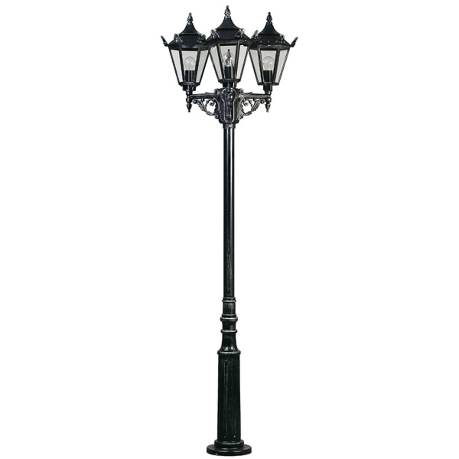 Maalaistyylinen lyhtypylväs 756 S, 3 lamppua