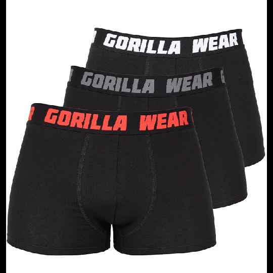 Gorilla Wear Boxershorts 3-pack, Black