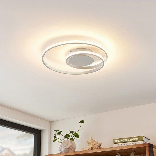 Lindby Kyron -LED-kattovalaisin, mattavalkoinen