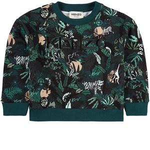 Kenzo Jungle Sweatshirt Grön 4 år