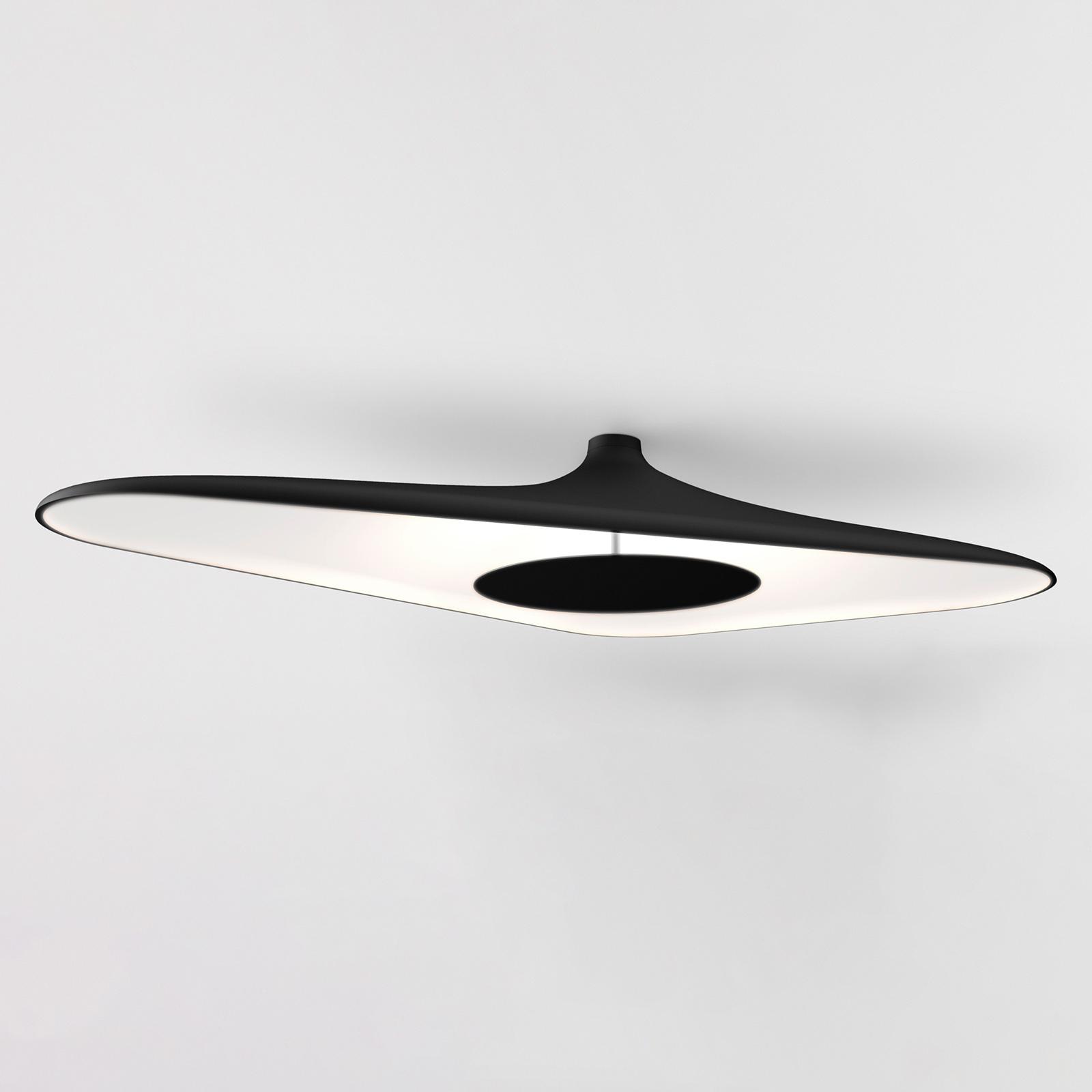 Luceplan Soleil Noir -LED-kattovalaisin musta