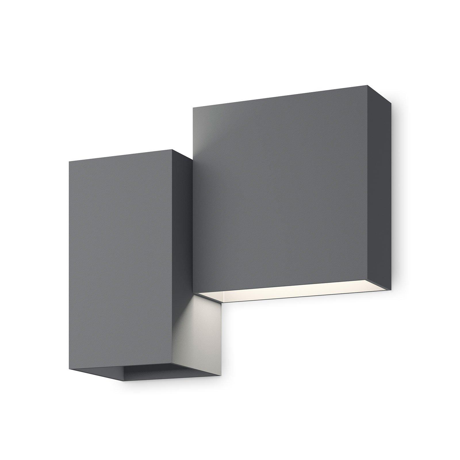 Vibia Structural 2602 LED-vegglampe, mørkegrå