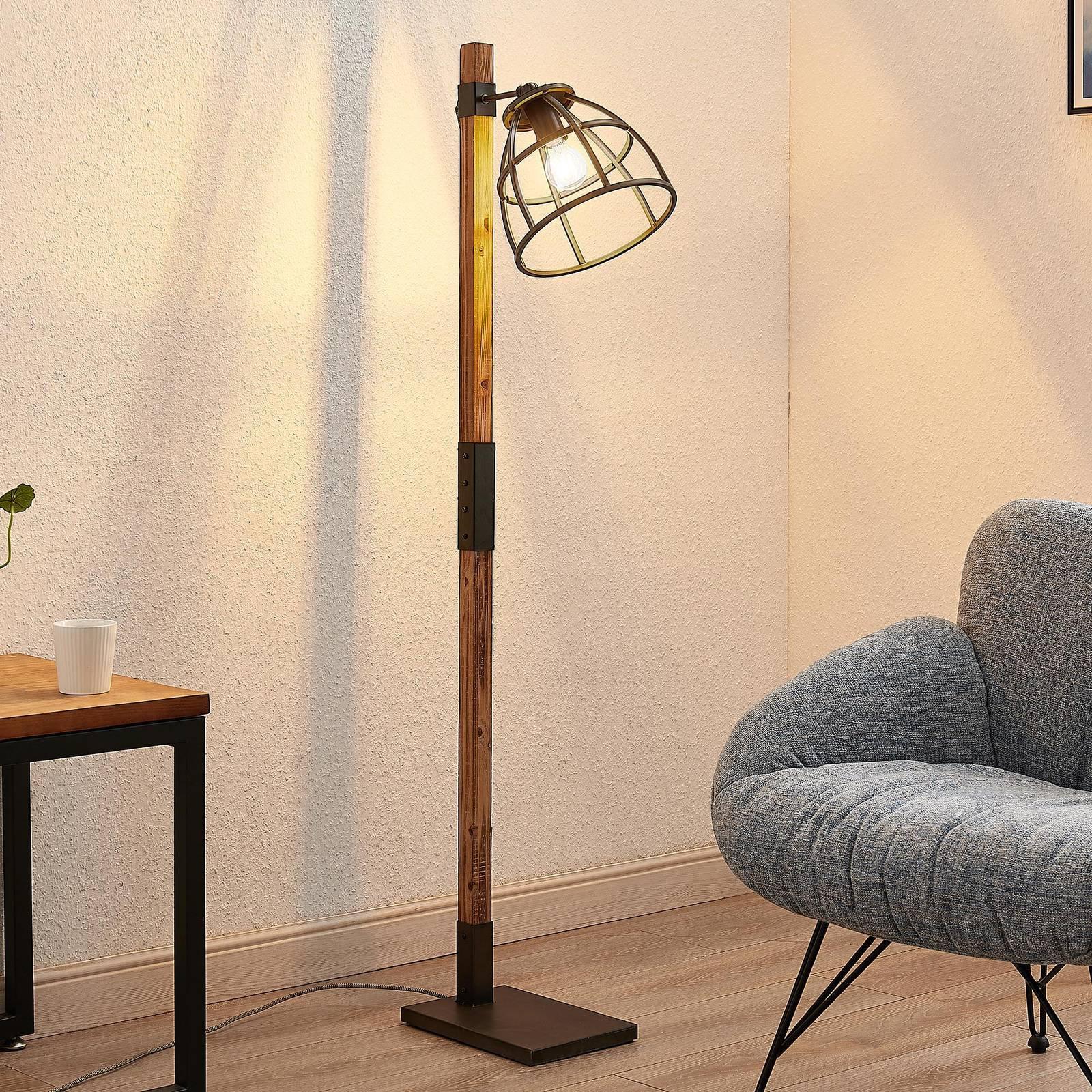 Lindby Tanina gulvlampe med burskjerm
