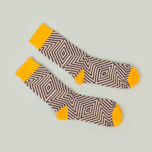 Star Geometric Pattern Socks