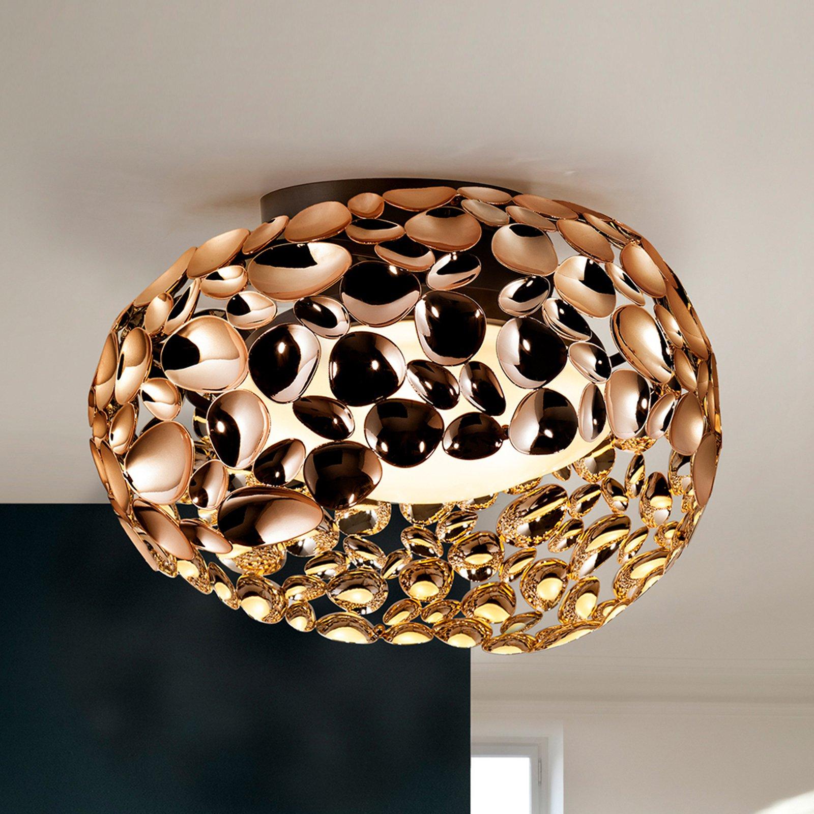 LED-taklampe Narisa, Ø 46 cm, rosegull