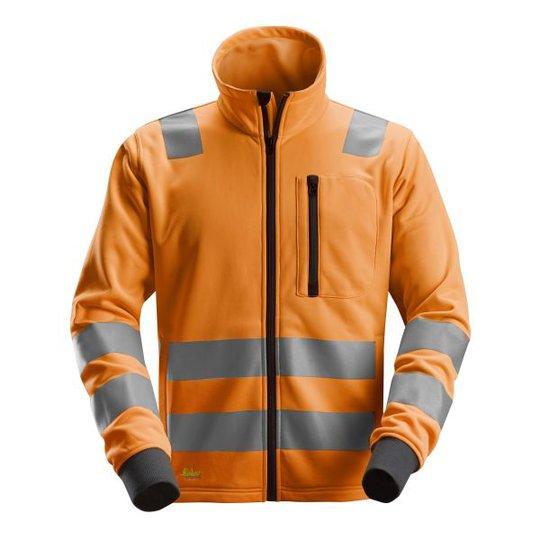 Snickers 8036 AllroundWork Fleecetakki heijastimet, oranssi XS