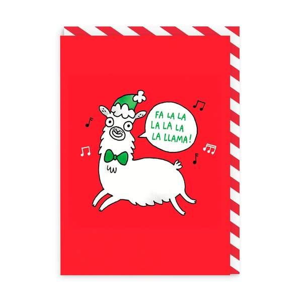Fa La La La Llama Christmas Card