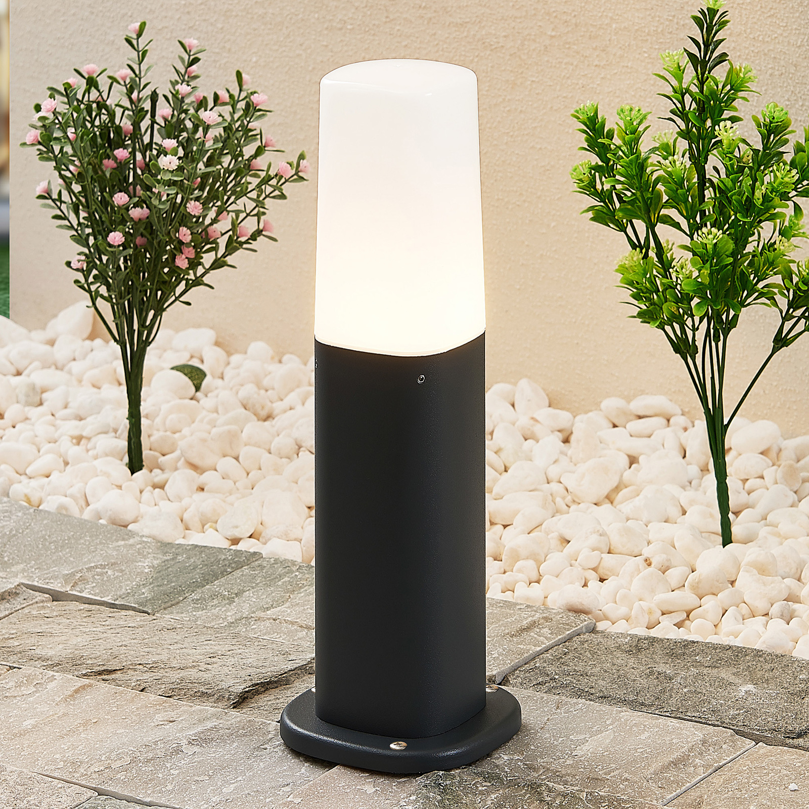 Lucande Eibo -pollarilamppu, korkeus 30 cm