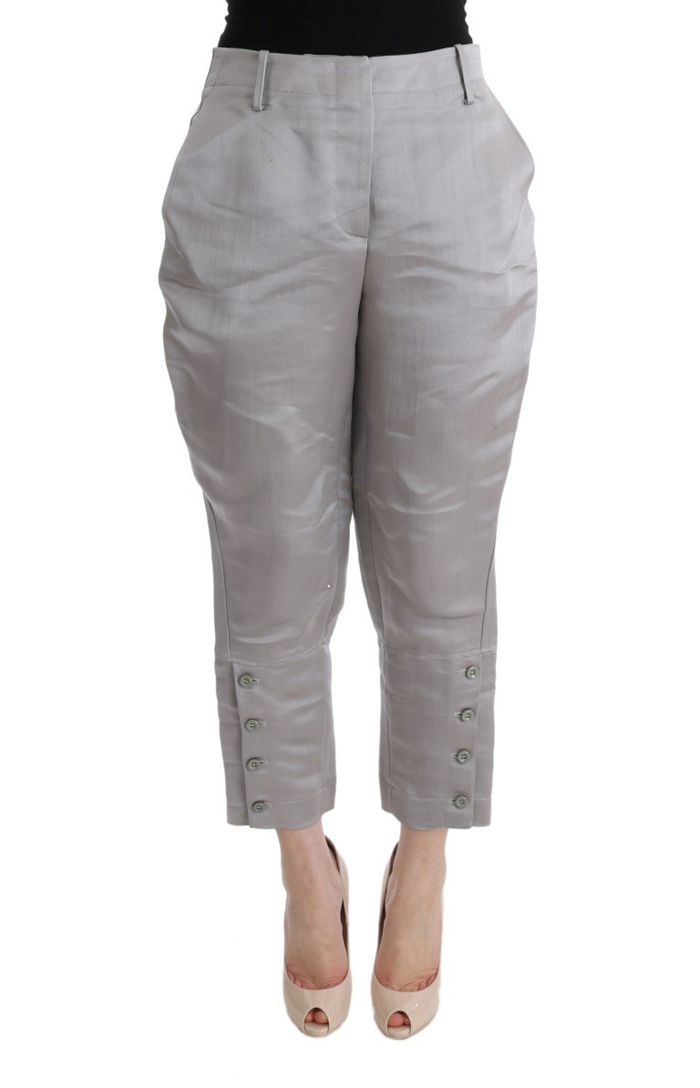 Ermanno Scervino Women's Cropped Trouser Grey SIG30324 - IT40 S