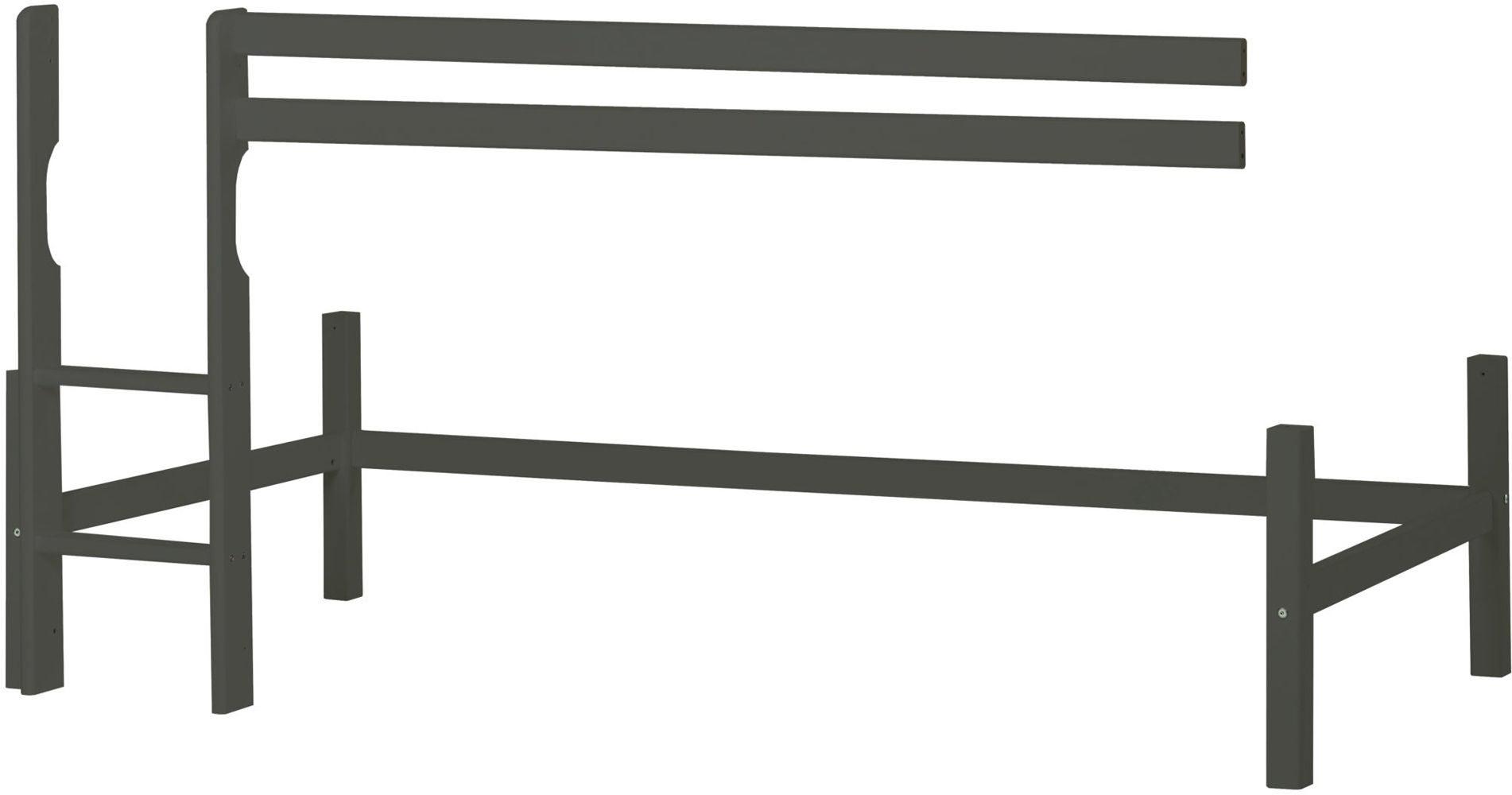 Hoppekids Parvisängyn Runko Basic 90x200 cm, Smoked Pearl