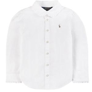 Ralph Lauren Ruffle Detail Oxfordskjorta Vit 2 years