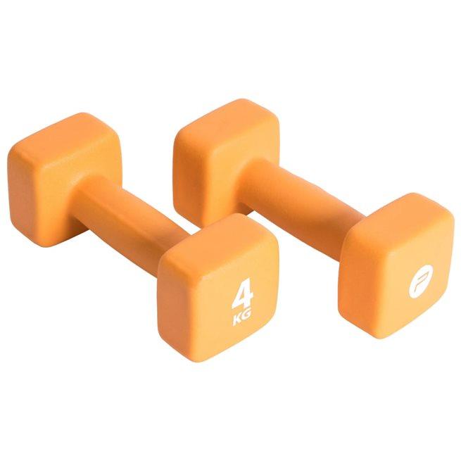 vidaXL Hantelset 2x4 kg neopren orange