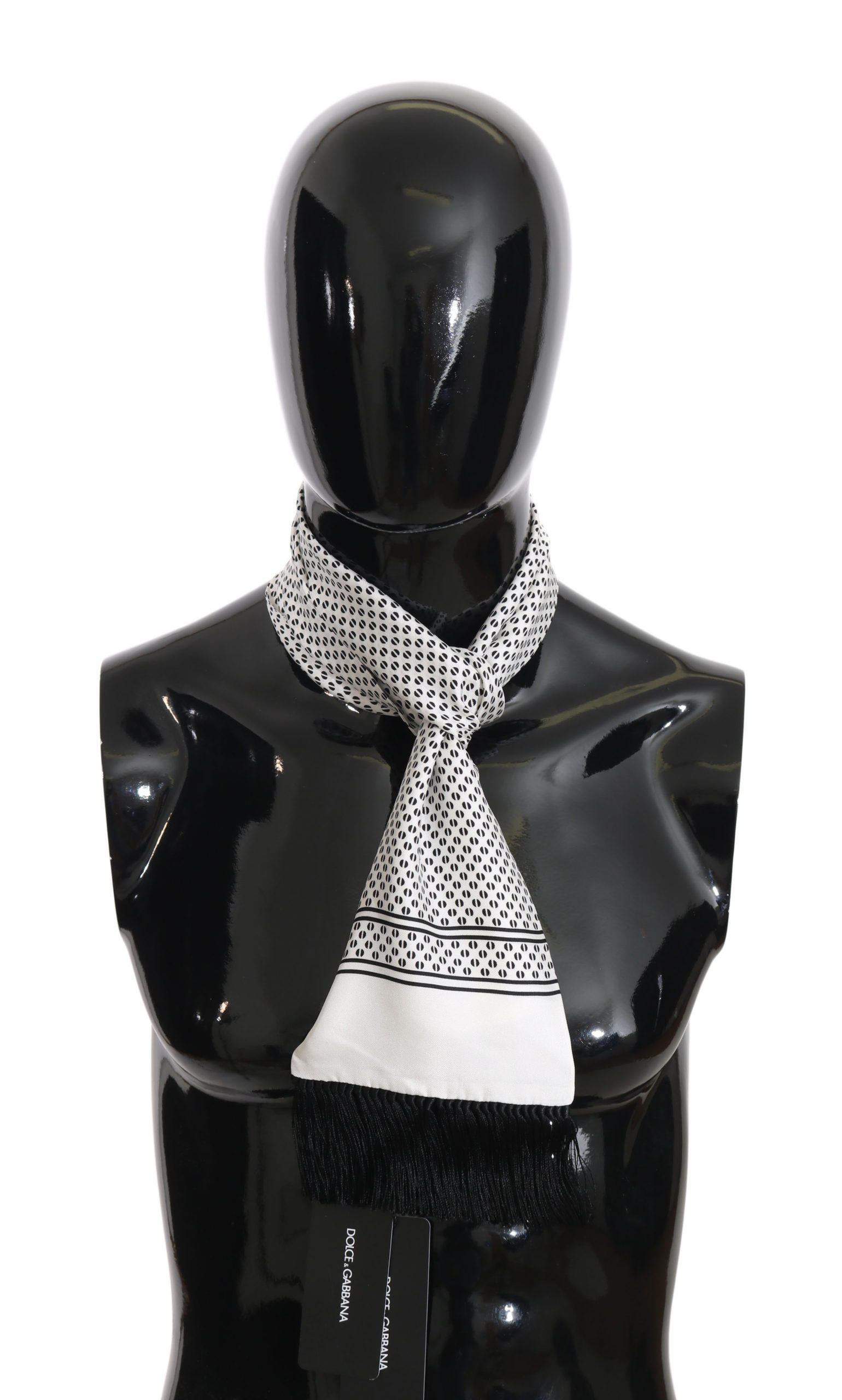 Dolce & Gabbana Men's Baroque Fringes Wrap Shawl Scarf Gray MS1981