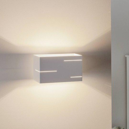 Vegglampe Laser i hvit lakkert stål
