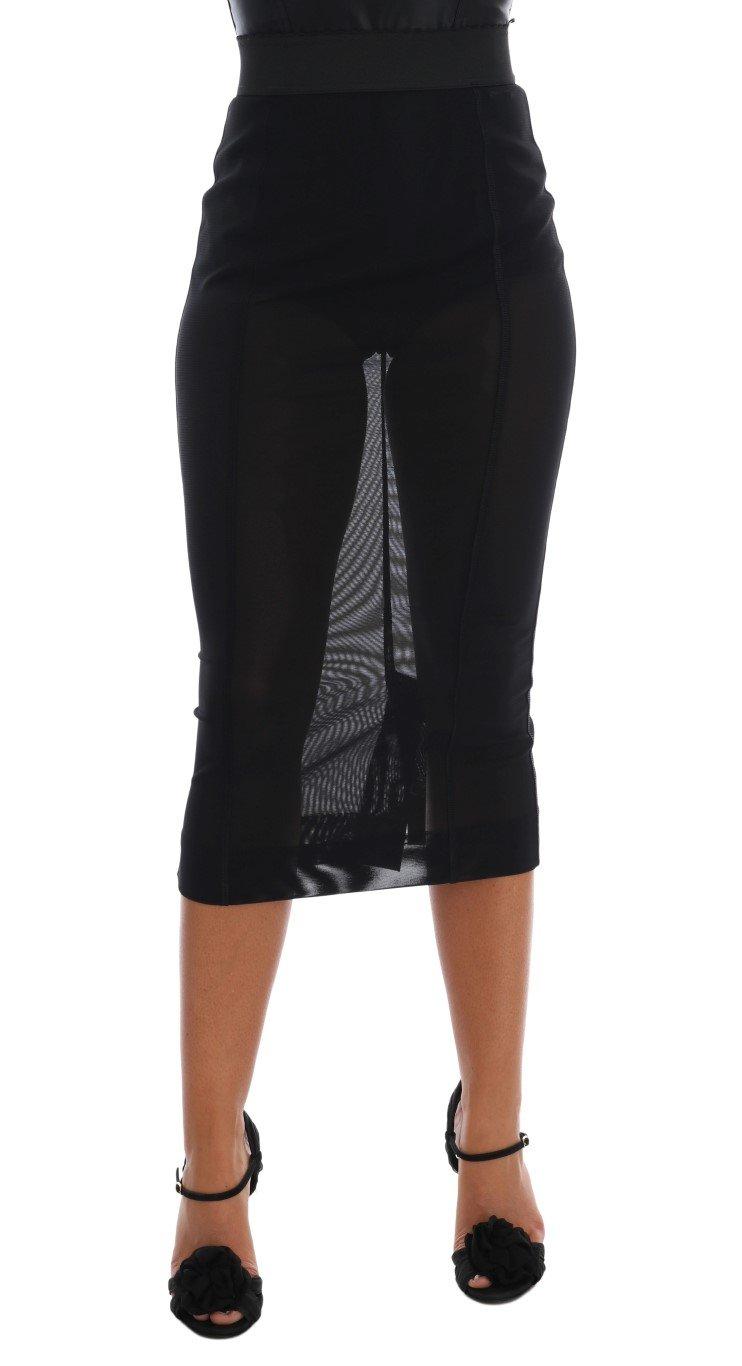 Dolce & Gabbana Women's Stretch Straight Pencil Skirt Black SKI1069 - IT36   XS