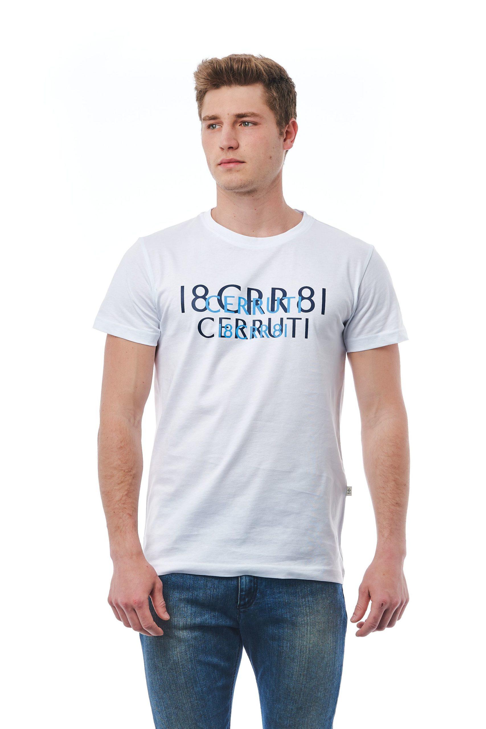 Cerruti 1881 Men's Bianco T-Shirt White CE1409808 - L