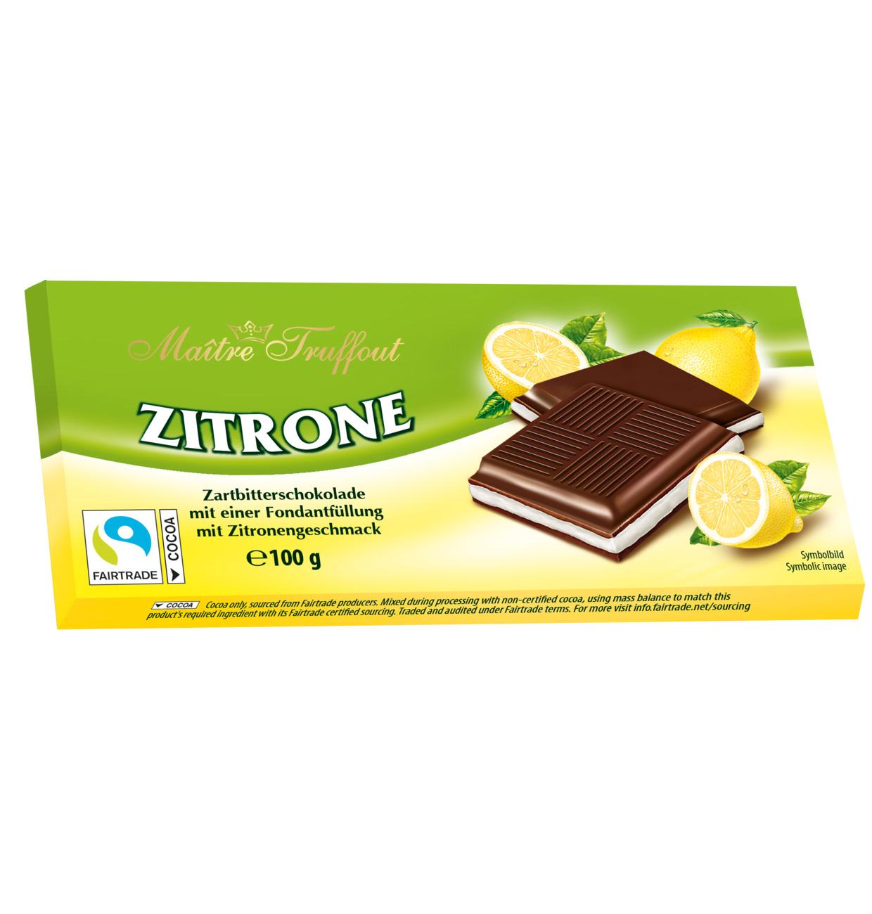 Maitre Truffout Mörk Choklad m. Citronkräm 100g