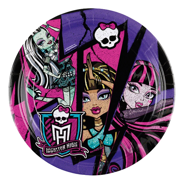Pappersassietter Monster High 2 - 8-pack
