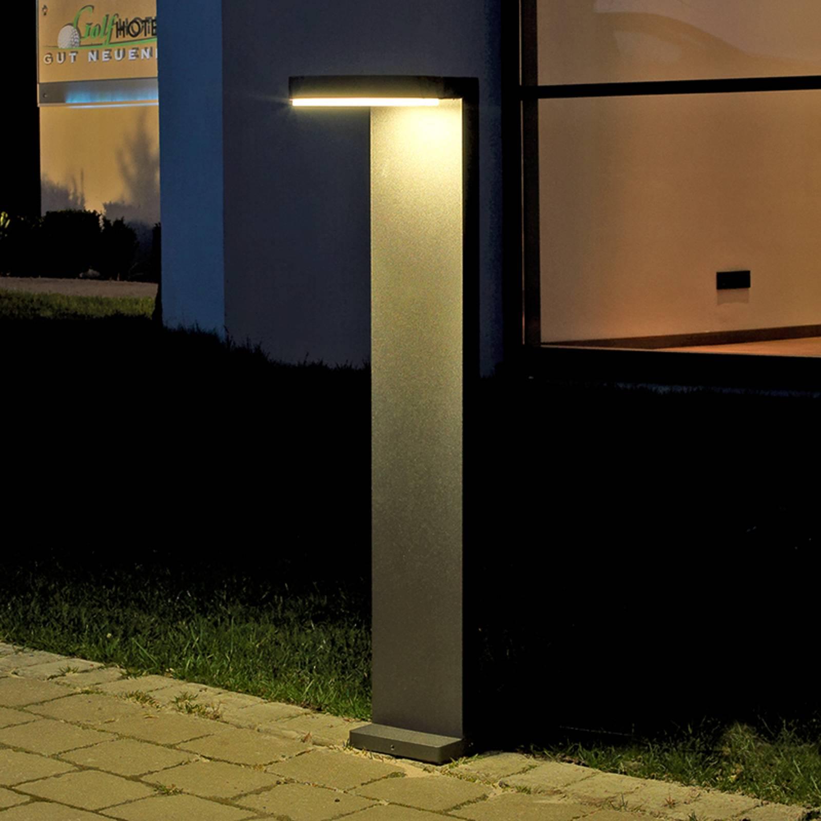 Alumiininen Tamar-LED-pylväsvalaisin, antrasiitti