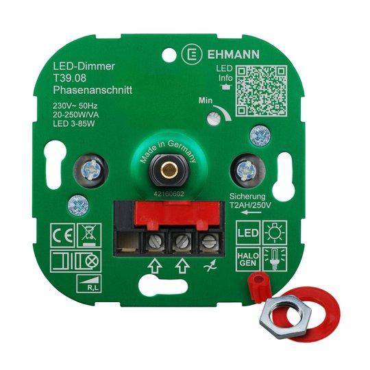 EHMANN T39 LED-dimmer fasesnitt, 20 - 250 W