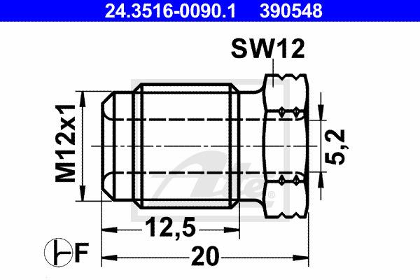 Liitosruuvi ATE 24.3516-0090.1