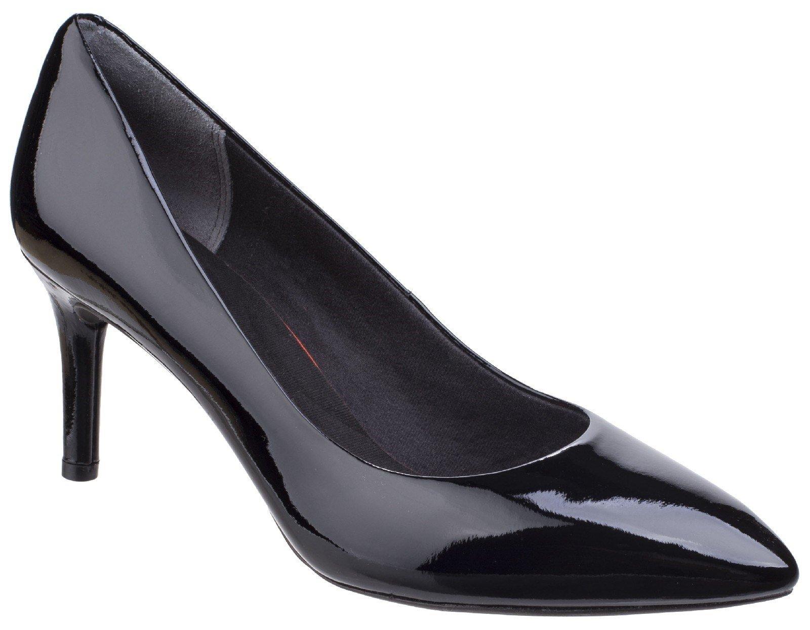 Rockport Women's Total Motion Stiletto Heel Various Colours 26347 - Black Patent 4