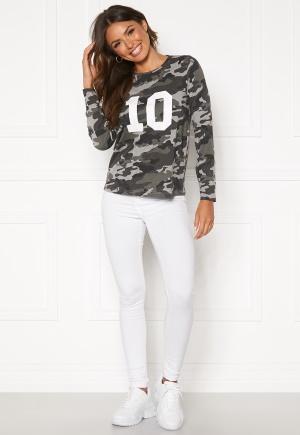 Happy Holly Alexa ls tee Grey melange / Camouflage 36/38