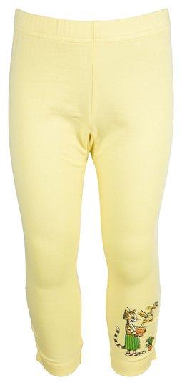 Gubben og Katten Capri Leggings, Yellow, 92