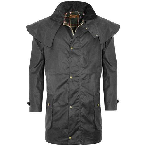 Game Technical Apparel Unisex Jacket Various Colours Wax Coat - Black XL