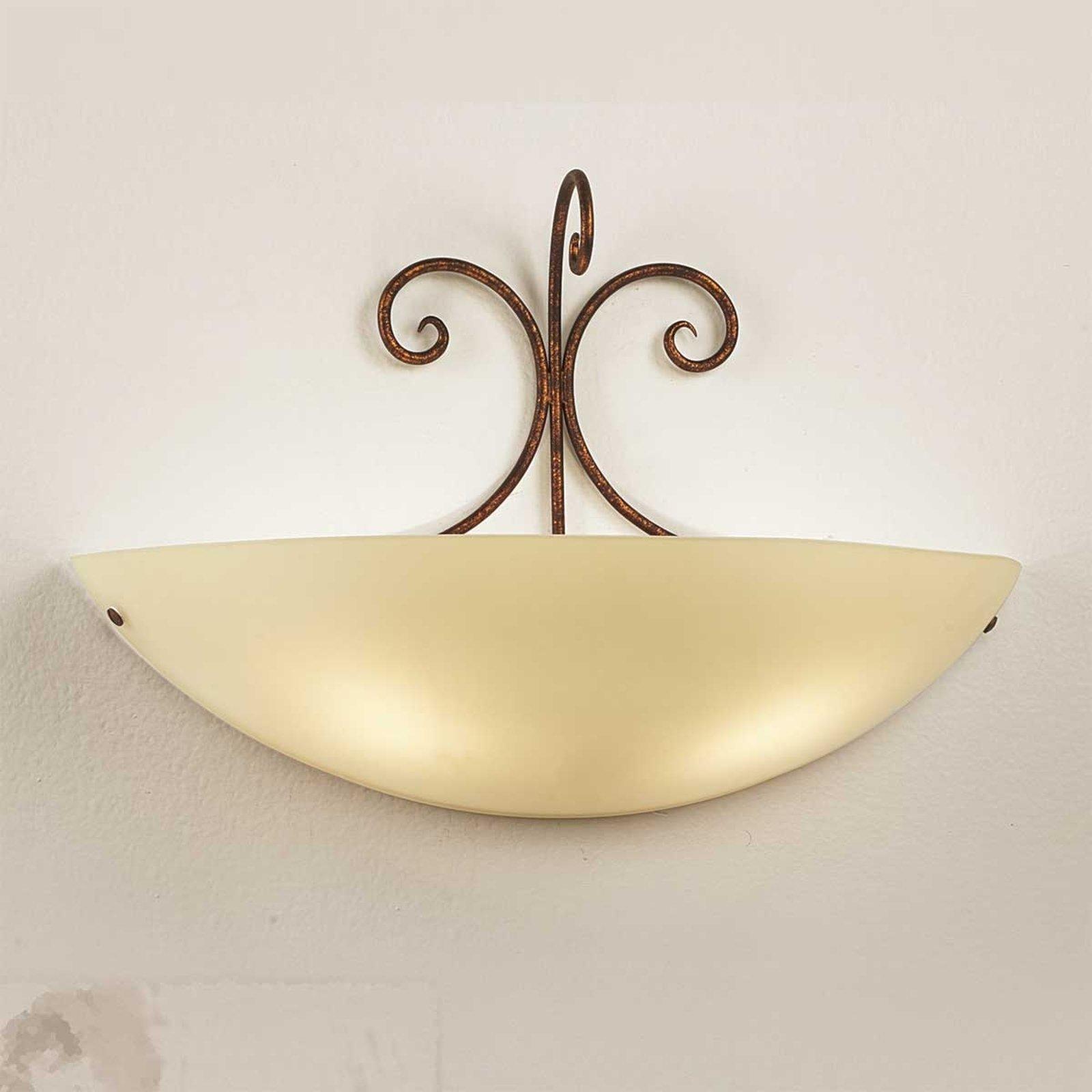 Vegglampe Federico av antikkbrunt metall