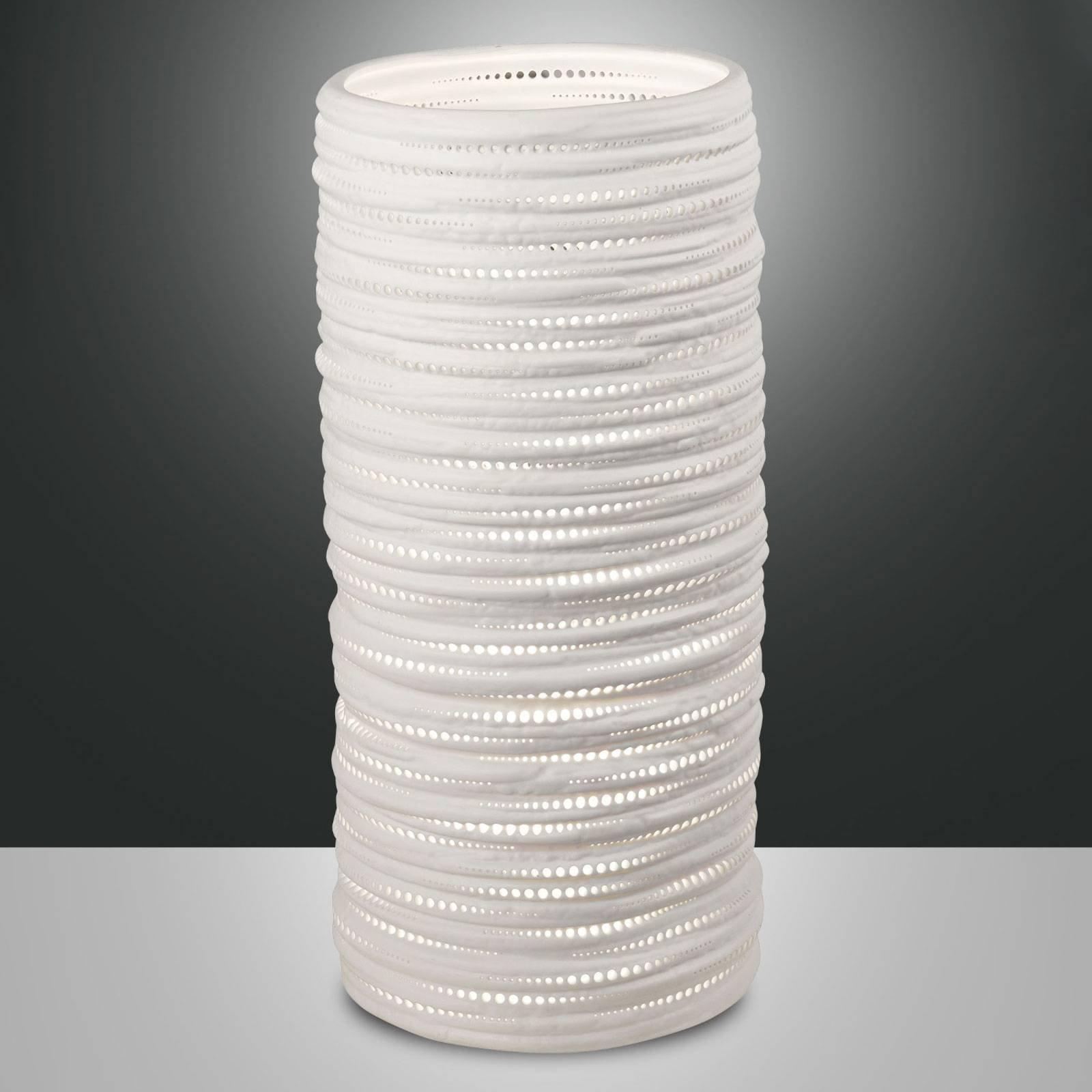 Bordlampe Marbella av keramikk, høyde 37 cm